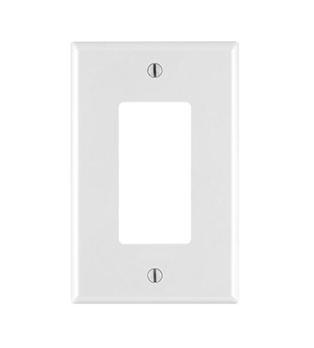 Leviton PJ26-WM 1-Gang Decora/GFCI Wallplate, 10-Pack, White ()