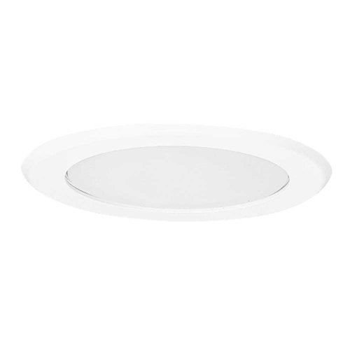 - EATON Lighting 5051PS 5-Inch Trim Showerlight Trim, White Trim with Flat Frost Lens
