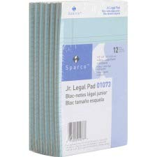 Sparco 01073 Colored Pads, Jr.Legal Rule, 50 Shts, 5-Inch x8-Inch, 12 Pd/DZ, Blue