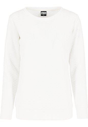 Urban Classics Pullover Quilt Crew, Suéter para Mujer Blanco (Offwhite)