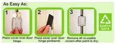 9 Residential Size Magnetic Door Hinge Covers for 3 1//2 round corner door hinge