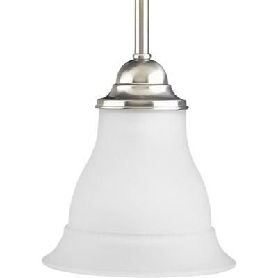 - Progress Lighting P5096-09 1-Light Mini-Pendant, Brushed Nickel