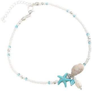 Women Jewelry Anklets Bohemian Pearls Starfish Charms Anklets Summer Shell Foot Chain for Women