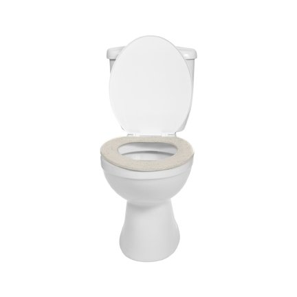 Soft n Comfy Cloth Toilet Seat Cover, Washable, Ivory