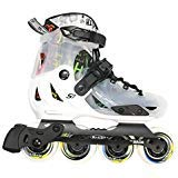 MICRO SKATES S7 WHITE 2018 - kids adjustable inline skates from famous scooter brand (EU33-36 (US2-4.5))