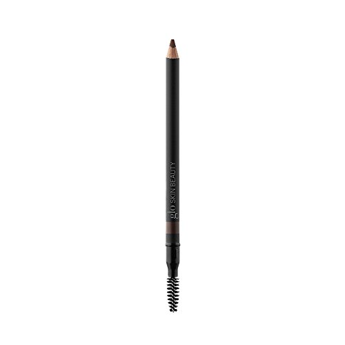 Eye Glominerals Brush (Glo Skin Beauty Precision Brow Pencil - Brown - Eyebrow Pencil, 3 Shades | Cruelty Free)
