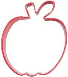 Wilton Metal Cookie Cutter 3' Red/Apple
