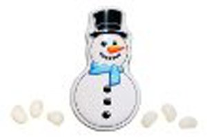 Candy Tin Snowman Poop Fruity Jelly Beans ()