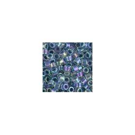 Miyuki Delica Size 11/db058/Lined luce blu ab QTY 5/grammi