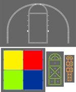 Playground Stencil Kit - Playground Stencil Set - Plastic