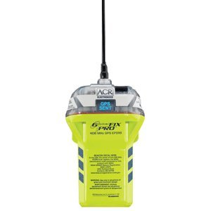 ACR GlobalFix iPro 406 28480 EPIRB Category II Rescue Beacon with Manual Release Bracket, Built-in GPS, and LED Status Display