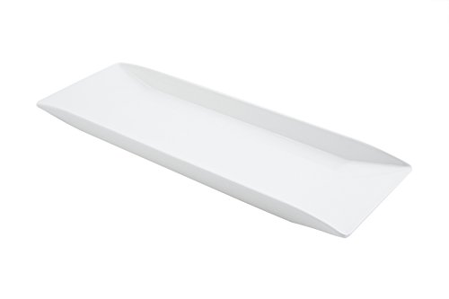 Bon Chef 53401WHITE Melamine Rectangular Platter, White (Pack of 10)