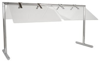 Buffet Enhancements Portable 50 Inch Folding Sneeze Guard, Stainless Steel Finish