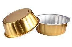 "KEISEN 4 2/5"" Disposable Aluminum Foil Cups 235ml 8oz 100/PK for Muffin Cupcake Baking Bake Utility Ramekin Cup (gold)"