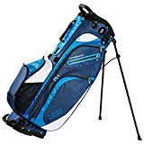 Izzo Versa Stand Golf Bag - Dark Blue/Light Blue/White - Golf Hybrid Stand Bag, Riding Hybrid Golf Stand Bag, Walking Hybrid Golf Stand Bag - Dark Blue, Light Blue and White Golf Stand Bag