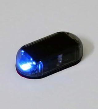 LINSUNG Intermitente luz de Seguridad ficticia simulaci/ón Coche Alarma Solar antirrobo Advertencia Red