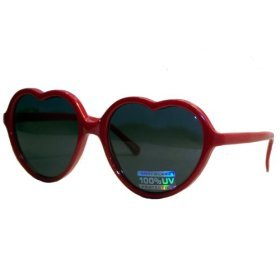Fun and Funky Lolita Heart Shaped Sunglasses - (Solid - Sunglasses Greaser