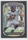 Christian Ponder (Football Card) 2013 Bowman - [Base] - Black Rainbow Foil #66