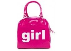 Trumpette Mini Patent PVC Bag With Girl On Front Of Bag, Fuchsia, 24   60 Months by Trumpette