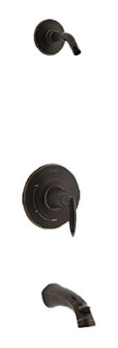 Kohler TLS45104-4-2BZ K-TLS45104-4-2BZ ALTEO Rite-Temp Bath and Shower Valve Trim with Lever Handle and spout, Less showerhead Oil-Rubbed Bronze
