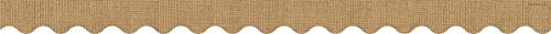 (Teacher Created Resources 3552 Burlap Scalloped Border Trim)