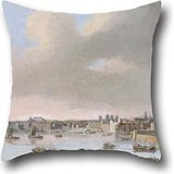 Pillow Covers Of Oil Painting Bol, Cornelis - The Thames From Somerset House 16 X 16 Inches / 40 By 40 Cm,best Fit For Divan,husband,dance Room,relatives,home Theater Twin Sides