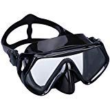 Supertrip Snorkeling Freediving Mask Adult Panoramic Scuba Diving Goggles Black