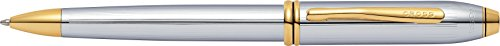 (Cross Townsend Medalist Chrome Ballpoint Pen with 23KT Gold-Plated Appointments)