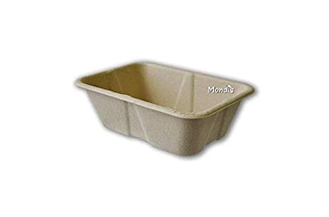 ENVASE COMPOSTABLE DE PULPA DE BAMBÚ 470 ML RECTANGULAR 1000 ...