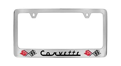 Chevrolet Corvette C1 Chrome Plated Metal License Plate Frame Holder Baronlfi