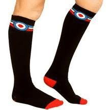Black-with-Mod-Target-and-Red-White-Blue-Stripes-at-Top-Over-The-Knee-Socks-from-Sourpuss-Clothing