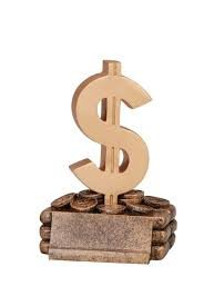 UPC 713331115779, Dollar Sign Trophy - Sales Competition Award