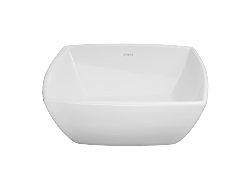 Home Depot Undermount Sinks - RONBOW Abyss 16 Inch Arched Square Ceramic Vessel Bathroom Sink in White 200004-WH