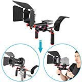 (Neewer Camera Movie Video Making Rig System Film-Maker Kit for Canon Nikon Sony and Other DSLR Cameras, DV Camcorders,Includes: Shoulder Mount, Standard 15mm Rail Rod System, Matte Box (Red and Black))
