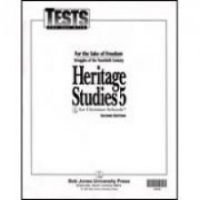 Heritage Studies 5 Tests - HERITAGE STUDIES 5 FOR CHRISTIAN SCHOOLS (STUDENT TESTS) (P)
