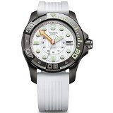 Victorinox Swiss Army Watch, Men's Dive Master 500m White Rubber Strap 43mm 241559