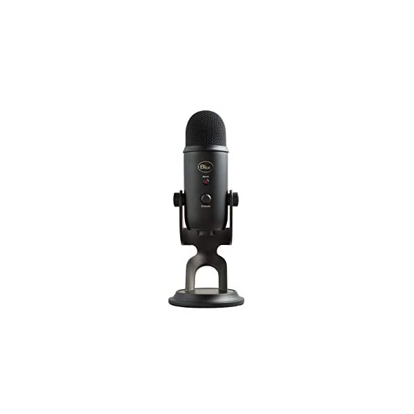 Blue Yeti USB Mic for Recording Streaming on PC and Mac 3 Condenser Capsules 4 Pickup Patterns Headphone