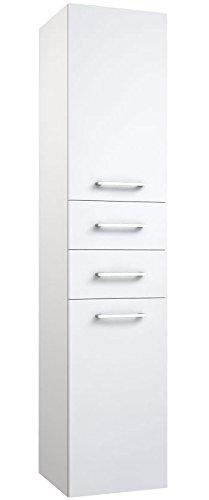 Badezimmer - Hochschrank Rajkot 75, Farbe: Weiß matt - 160 x 35 x ...