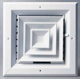 PROSELECT 6 x 6 in. White Aluminum 4-Way Ceiling Diffuser