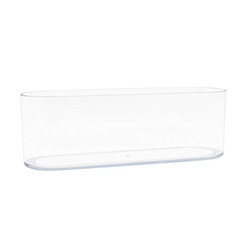 Royal Imports Flower Vase Acrylic Oval - Decorative Centerpiece for Home or Wedding - Non Breakable Plastic, 4