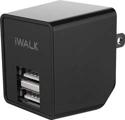 Replacement For IWALK DUAL USB WALL CHARGER BLACK Charger Technical Precision