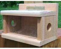 Cheap Songbird Essentials Post Mount Bluebird Feeder