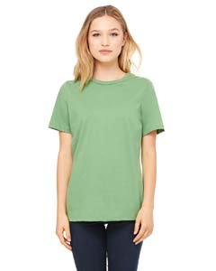 (Bella 6400 Womens Relaxed Jersey Short Sleeve Tee - Leaf, Extra Large)
