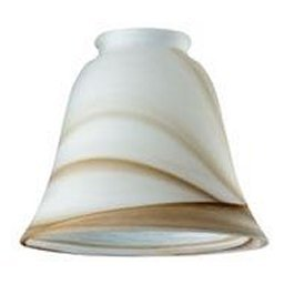 (Westinghouse 81167 Ceiling Fan/Light Fixture Replacement Glass Shade, Brown Swirl)