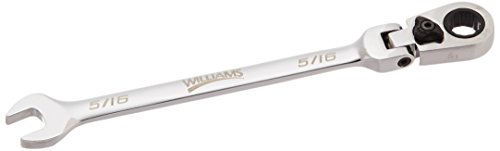 Williams 1210RCF 5/16-Inch Flex Head Reversible Ratcheting Comb Wrench, 12 Point