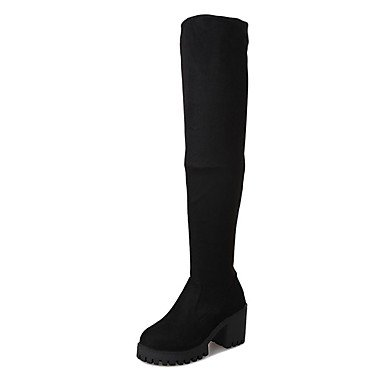 UK4 Round Knee CN37 For 5 EU37 Toe Fashion Women'S US6 Black Boots 7 5 RTRY 5 High Shoes Boots Cashmere Boots Casual Winter B17041HWnz