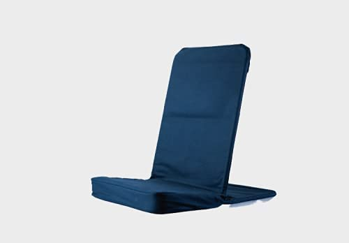 BackJack BJI Original BackJack-Made in The USA- Extra Large Tough Duck Black Lightweight Floor Seating Chair for Gaming, Families, Parents, Daycare, Back Support, Reading, Yoga, Meditation, Dorm