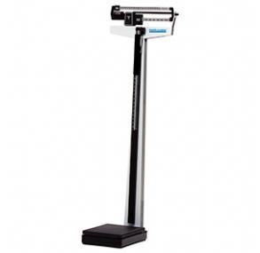 "Health O Meter 450KL Mechanical Beam Scale with Height Rod, Capacity 500 lb, Graduation 1/4 lb, 10-1/2"" Width x 14"" Depth Platform"