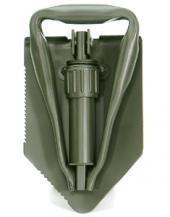 Multifunktionaler 3 teiliger Feldspaten der Deutschen Bundeswehr mit Hülle Klappspaten mit Säge Oliv oder Schwarz (Oliv)