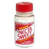 Necta Sweet Saccharin Sugar Substitute 0.25 Grain Tablets - 500 Each